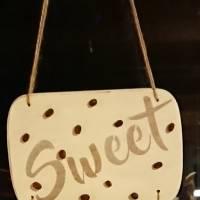 """Hängedeko """"Sweet Coffee"""", Shabby-Chic, weiß Bild 1"""