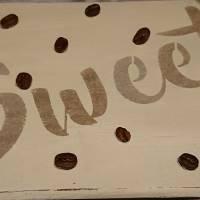 """Hängedeko """"Sweet Coffee"""", Shabby-Chic, weiß Bild 2"""