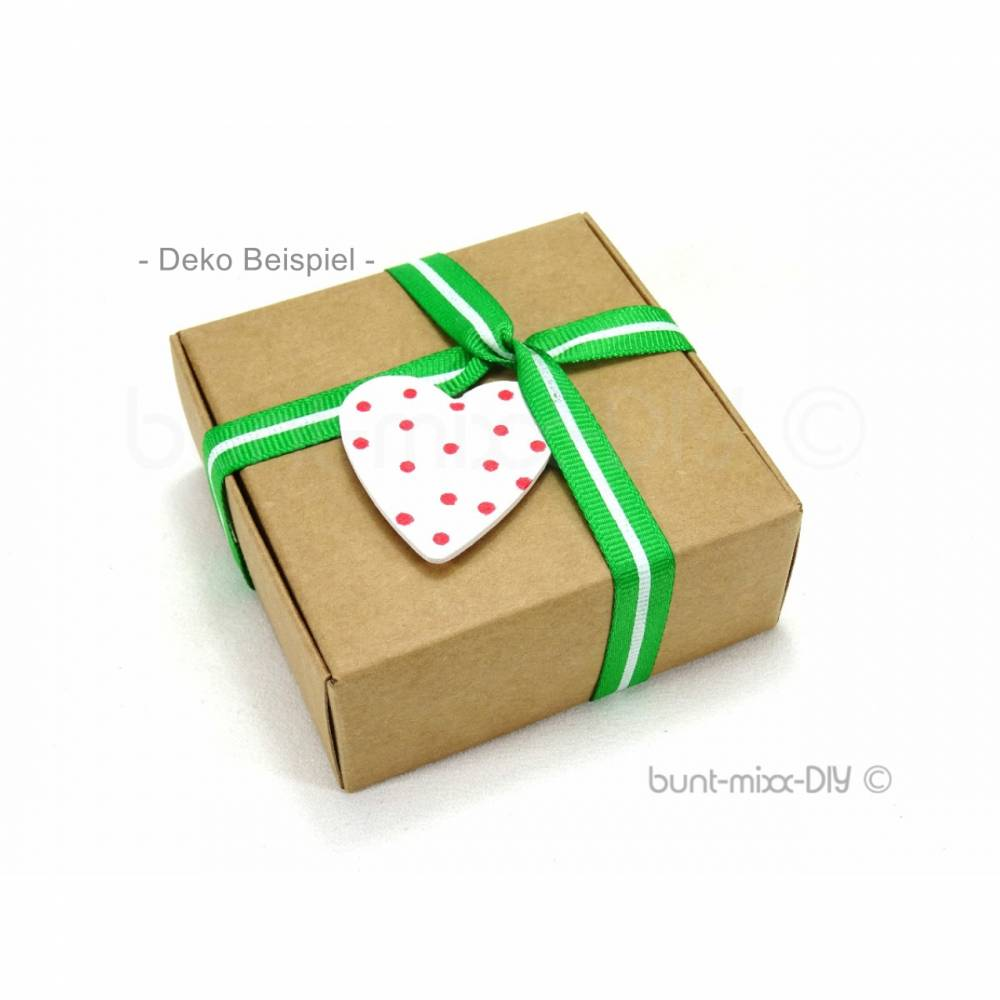 Schachteln Geschenkbox, Gastgeschenk Geschenke verpacken Gr. M 7,5x7,5x3cm Faltschachteln Kraftpapier Adventskalender Bild 1