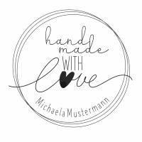 """Personalisierter Stempel mit Text: """"handmade with Love"""" Handmade Stempel - """"Handarbeit Stempel No.HO-100070 Bild 2"""