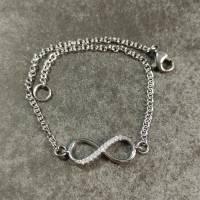 Armband Edelstahl mit Infinity Verbinder in silber - Unendlichkeitszeichen Bild 6