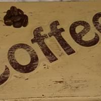 """Hängedeko """"enjoy coffee"""", Shabby-Chic, beige Bild 3"""