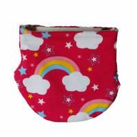 NEU Loop Jersey Regenbogen Fleece Kinder  Kopfumfang  39-40 cm Bild 1