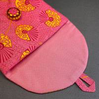 Stofftasche mit handgearbeitetem Posamentenknopf Bild 2