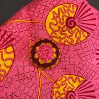 Stofftasche mit handgearbeitetem Posamentenknopf Bild 3