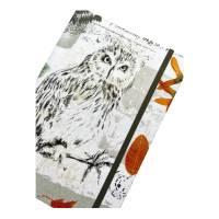 """Notizbuch Tagebuch Kladde """"Owl"""" A5 stoffbezogen Stoff Eule Geschenk GEscnenkidee Geschenkartikel Bild 1"""