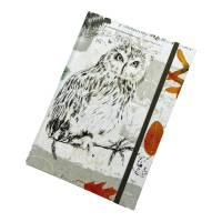 """Notizbuch Tagebuch Kladde """"Owl"""" A5 stoffbezogen Stoff Eule Geschenk GEscnenkidee Geschenkartikel Bild 5"""
