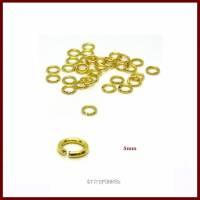 100  Binderinge offen, 5mm, vergoldet Bild 1