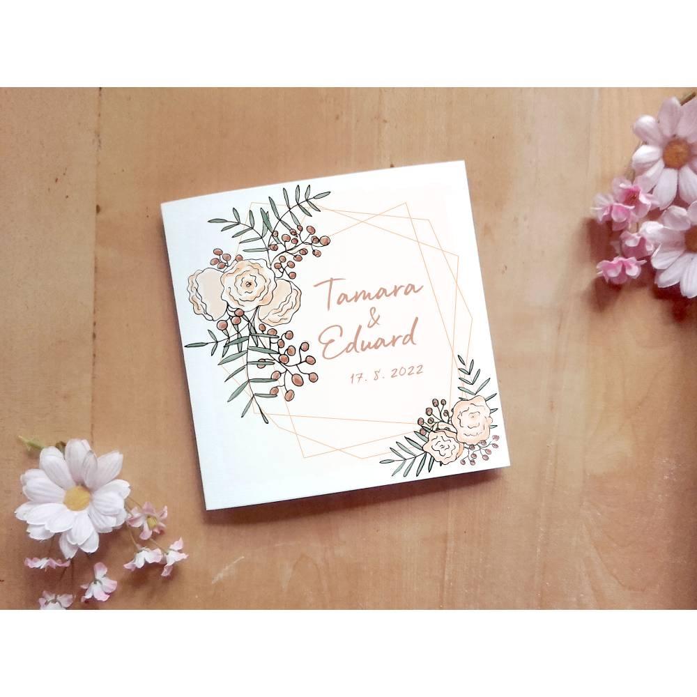 Hochzeitsdesign Aquaflowers Printable DIY Bild 1