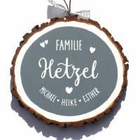Türschild Holzscheibe Namensschild handbemalt individuell personalisiert Bild 1
