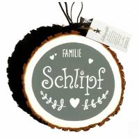 Türschild Holzscheibe Namensschild handbemalt individuell personalisiert Bild 3