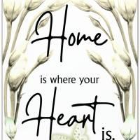 *Home* 3er Set in Grün Handlettering Print Poster Kunstdruck Bild mit Spruch Zitat Frühlingsblumen Bild 2