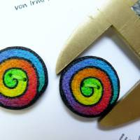 Knöpfe / Fimo im Regenbogen Swirl Muster Bild 3