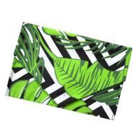 Geschenkverpackung in Briefform *Blätter und Streifen* Tasche aus Baumwolle wiederverwendbar no waste bag Bild 1