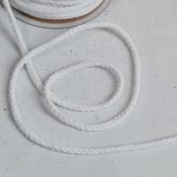 550 Kordel, Rundkordel, Baumwollkordel 6mm - weiß 1m Bild 1