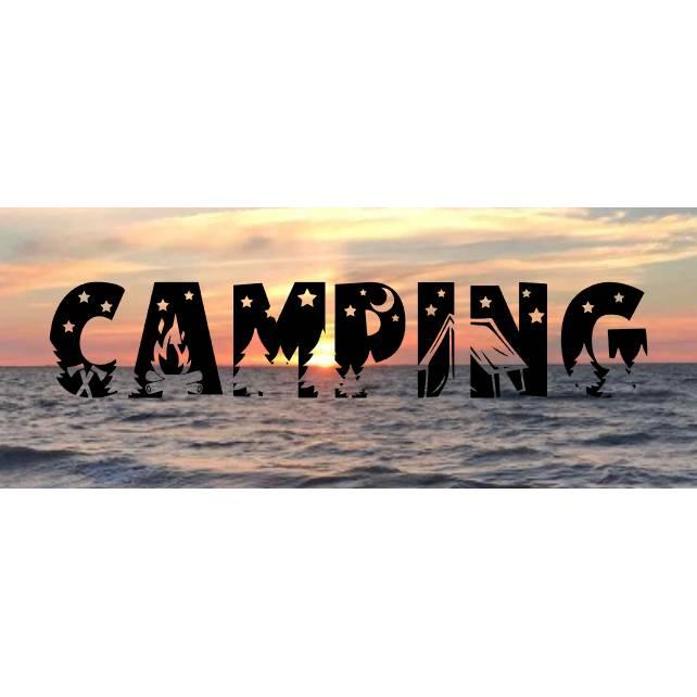 Aufkleber Wort Camping Bild 1