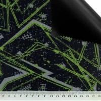 PERMIUM Outdoorstoff MUSTER schwarz grau neon bedruckt 360 g / m² Größenauswahl Bild 2