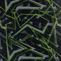 PERMIUM Outdoorstoff MUSTER schwarz grau neon bedruckt 360 g / m² Größenauswahl Bild 3