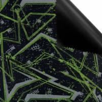 PERMIUM Outdoorstoff MUSTER schwarz grau neon bedruckt 360 g / m² Größenauswahl Bild 4