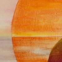 Yin & Yang - Original Ölmalerei, gerahmt Bild 2