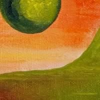 Yin & Yang - Original Ölmalerei, gerahmt Bild 3