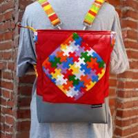 Tasche oder Rucksack? Beides! Farbenfrohe Rucksacktasche! Knallbunter Taschenrucksack! Gute-Laune-Tasche Bild 1