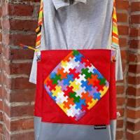 Tasche oder Rucksack? Beides! Farbenfrohe Rucksacktasche! Knallbunter Taschenrucksack! Gute-Laune-Tasche Bild 2