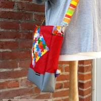 Tasche oder Rucksack? Beides! Farbenfrohe Rucksacktasche! Knallbunter Taschenrucksack! Gute-Laune-Tasche Bild 4