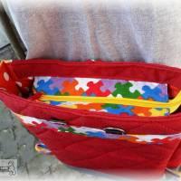 Tasche oder Rucksack? Beides! Farbenfrohe Rucksacktasche! Knallbunter Taschenrucksack! Gute-Laune-Tasche Bild 5
