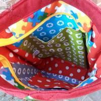 Tasche oder Rucksack? Beides! Farbenfrohe Rucksacktasche! Knallbunter Taschenrucksack! Gute-Laune-Tasche Bild 6