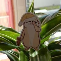 Hamster ist Müde Sticker mit Teddy - Süße Sticker - Tier Sticker Bild 5