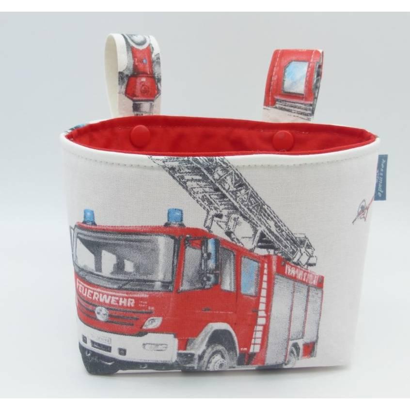 Lenkertasche Feuerwehr, Feuerwehrauto, für Laufrad, Dreirad, Kinderfahrrad, Unikat hessmade Bild 1