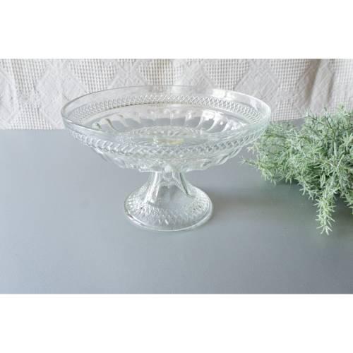 Glasschale mit Fuß, Schale aus Glas, Vintage, 1960er Jahre, für Konfekt, Schmuck oder ähnliches