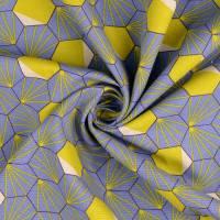 Tillisy Deko Druck Canvas Baumwolle Hexagon rauchblau (1m /12,00€) Bild 1