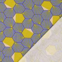 Tillisy Deko Druck Canvas Baumwolle Hexagon rauchblau (1m /12,00€) Bild 3