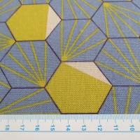 Tillisy Deko Druck Canvas Baumwolle Hexagon rauchblau (1m /12,00€) Bild 4