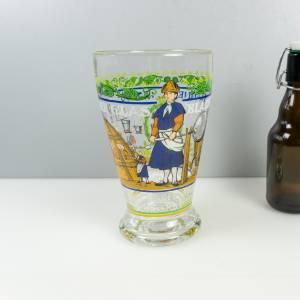 Vintage Bierglas, Traditionsglas Der Glasbläser, Brauerei Hannen Alt, Glas Nr. III 271, limitiert, von Rupert Schneider, Bild 1