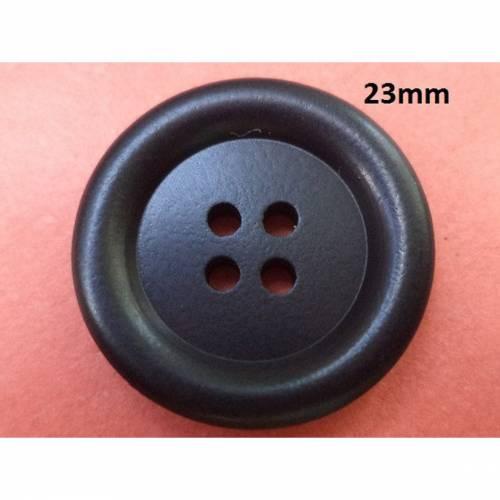 schwarze Knöpfe 23mm (6626)