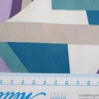 Tillisy Baumwolle Popeline geometrische Formen petrol/flieder (1m /10,00€) Bild 4