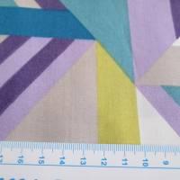 Tillisy Baumwolle Popeline geometrische Formen petrol/flieder (1m /10,00€) Bild 5