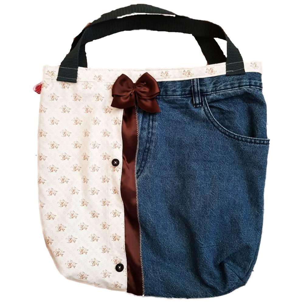 Wendetasche, Designertasche, Shopper, Einkaufstasche, Tragetasche, Handtasche, Unikat Bild 1