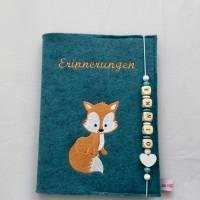 Personalisiertes Tagebuch aus Filz,,Fuchs,,Erinnerungen, Album Bild 5