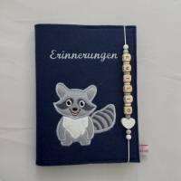 Personalisiertes Tagebuch aus Filz,,Waschbär,,Erinnerungen, Album Bild 1