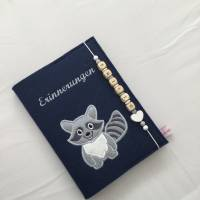 Personalisiertes Tagebuch aus Filz,,Waschbär,,Erinnerungen, Album Bild 2