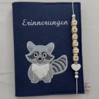 Personalisiertes Tagebuch aus Filz,,Waschbär,,Erinnerungen, Album Bild 5