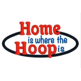 """Stickdatei  Schriftzug """"Home is where the Hoop is""""  Bild 1"""