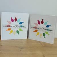"""Glückwunschkarte für Konfirmation oder Kommunion """"Regenbogenfische"""" aus der Manufaktur Karla Bild 1"""