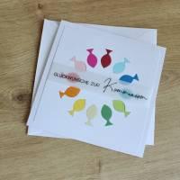 """Glückwunschkarte für Konfirmation oder Kommunion """"Regenbogenfische"""" aus der Manufaktur Karla Bild 2"""
