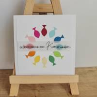 """Glückwunschkarte für Konfirmation oder Kommunion """"Regenbogenfische"""" aus der Manufaktur Karla Bild 3"""