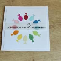 """Glückwunschkarte für Konfirmation oder Kommunion """"Regenbogenfische"""" aus der Manufaktur Karla Bild 4"""